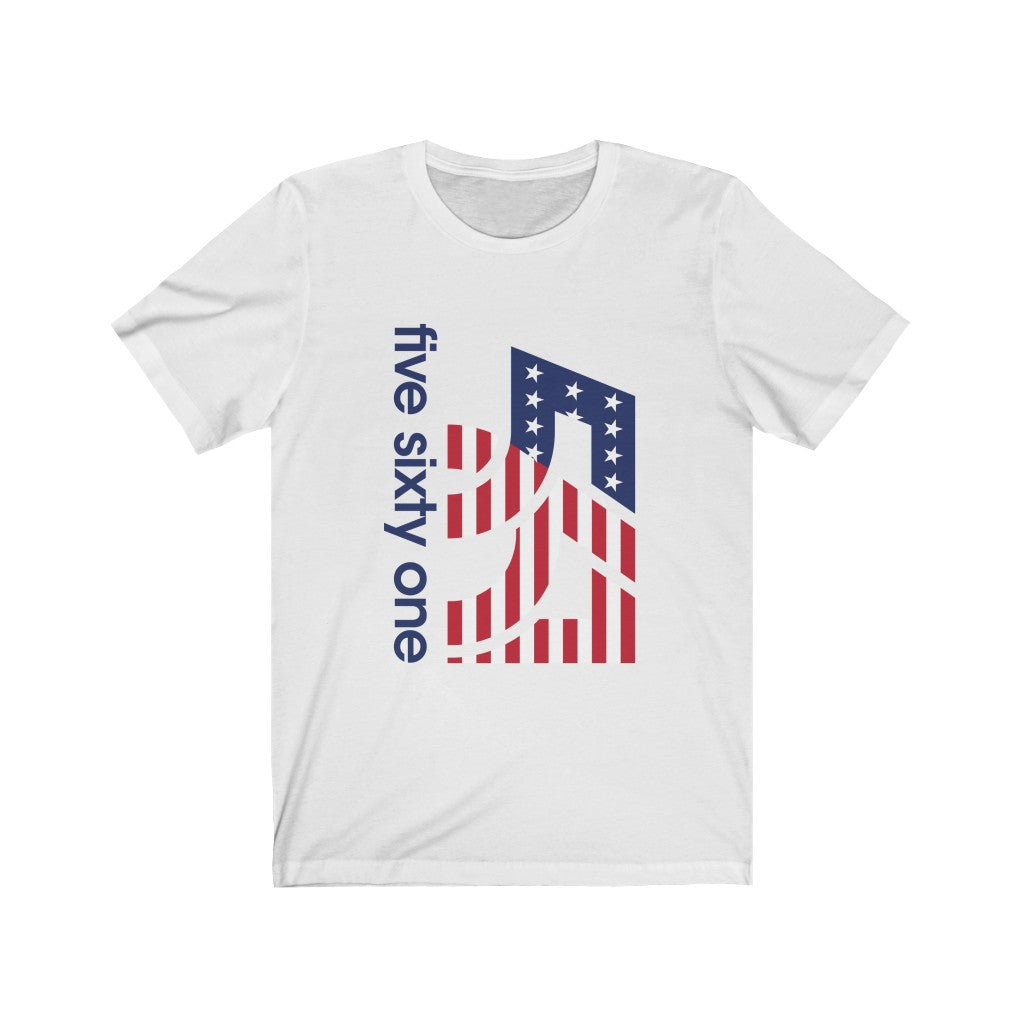 Five Sixty One USA Unisex Jersey Short Sleeve Tee