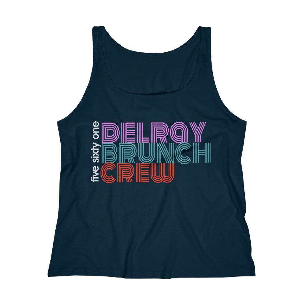 Five Sixty One Delray Brunch Crew Women's Relaxed Jersey Tank Top