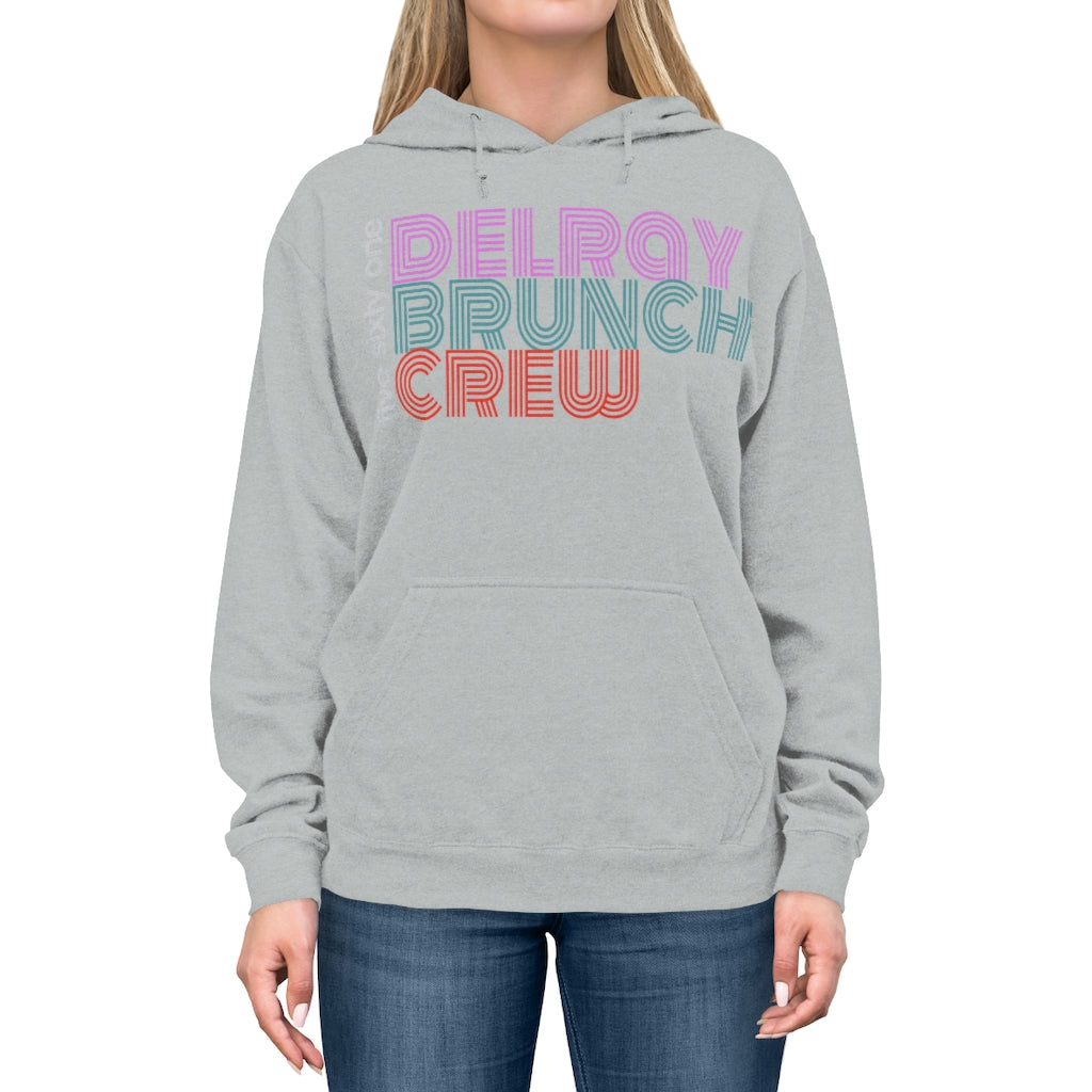 Delray Beach Brunch Crew Unisex Lightweight Hoodie