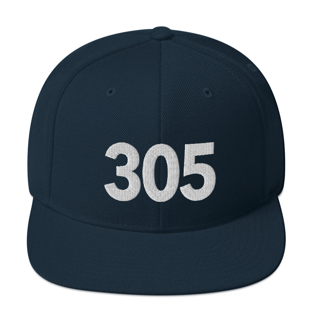 Navy-305-Area-Code-Snapback-Hat