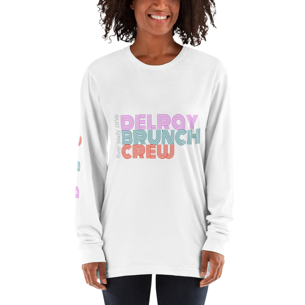 Five Sixty One Delray Brunch Crew Long Sleeve T-shirt - Unisex