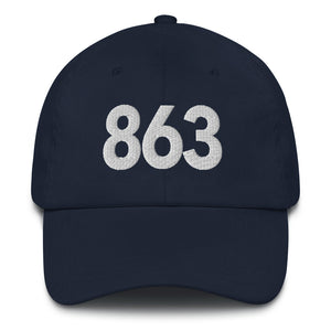 863 Area Code Dad Hat - White Detail