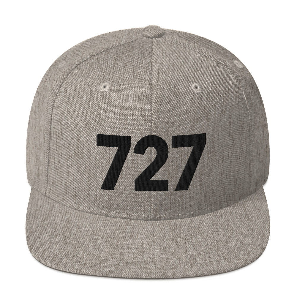 727 Area Code Snapback Hat - White Detail