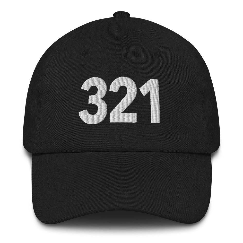 321 Area Code Dad Hat - White Detail