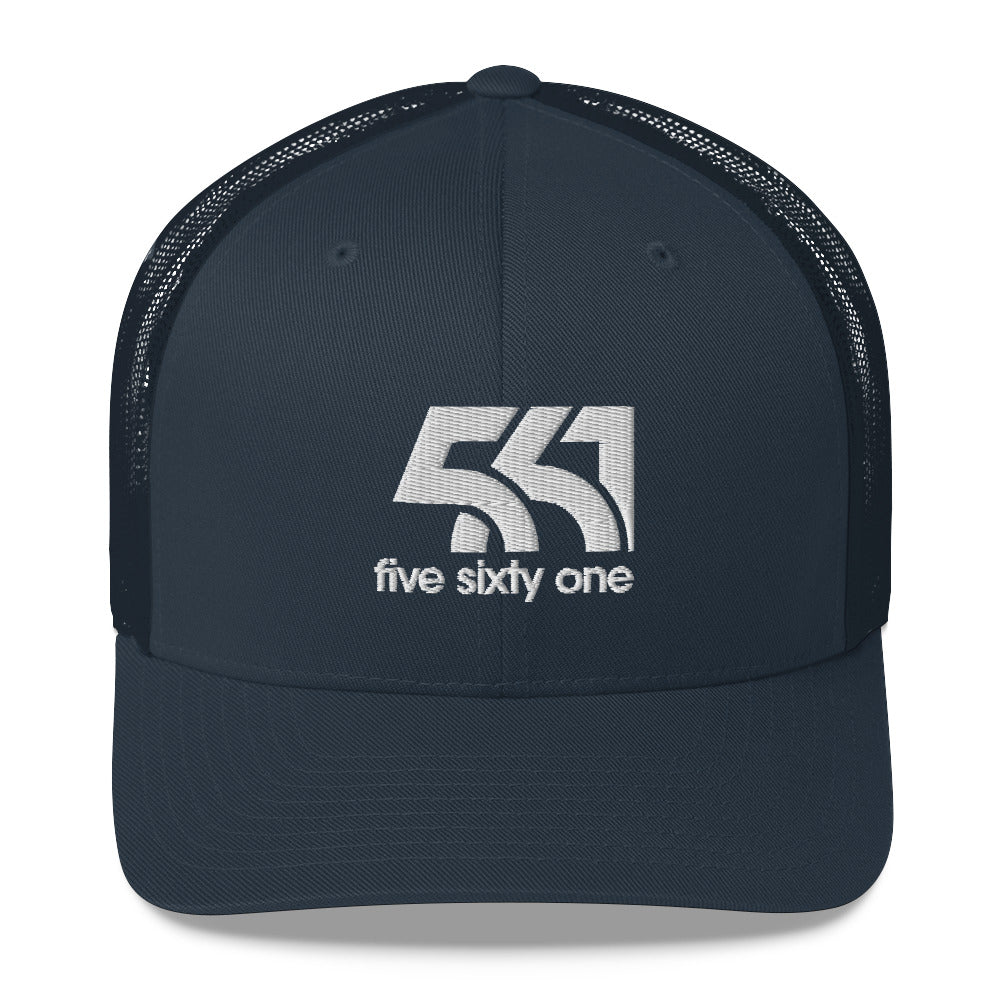 Five Sixty One Trucker Cap - White Detail