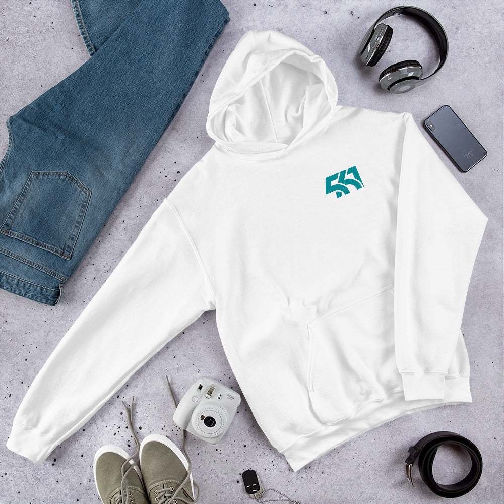 Five Sixty One Unisex Hoodie with Aqua Logo