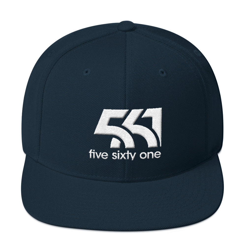 Five Sixty One Snapback Hat - White Detail - Five Sixty One
