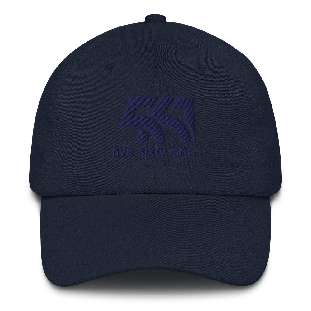Five Sixty One Dad Hat - Dark Blue Detail