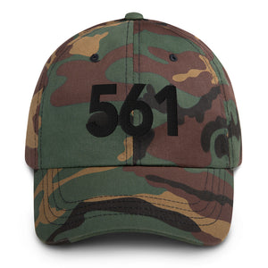 561 Area Code Dad Hat - Black Detail