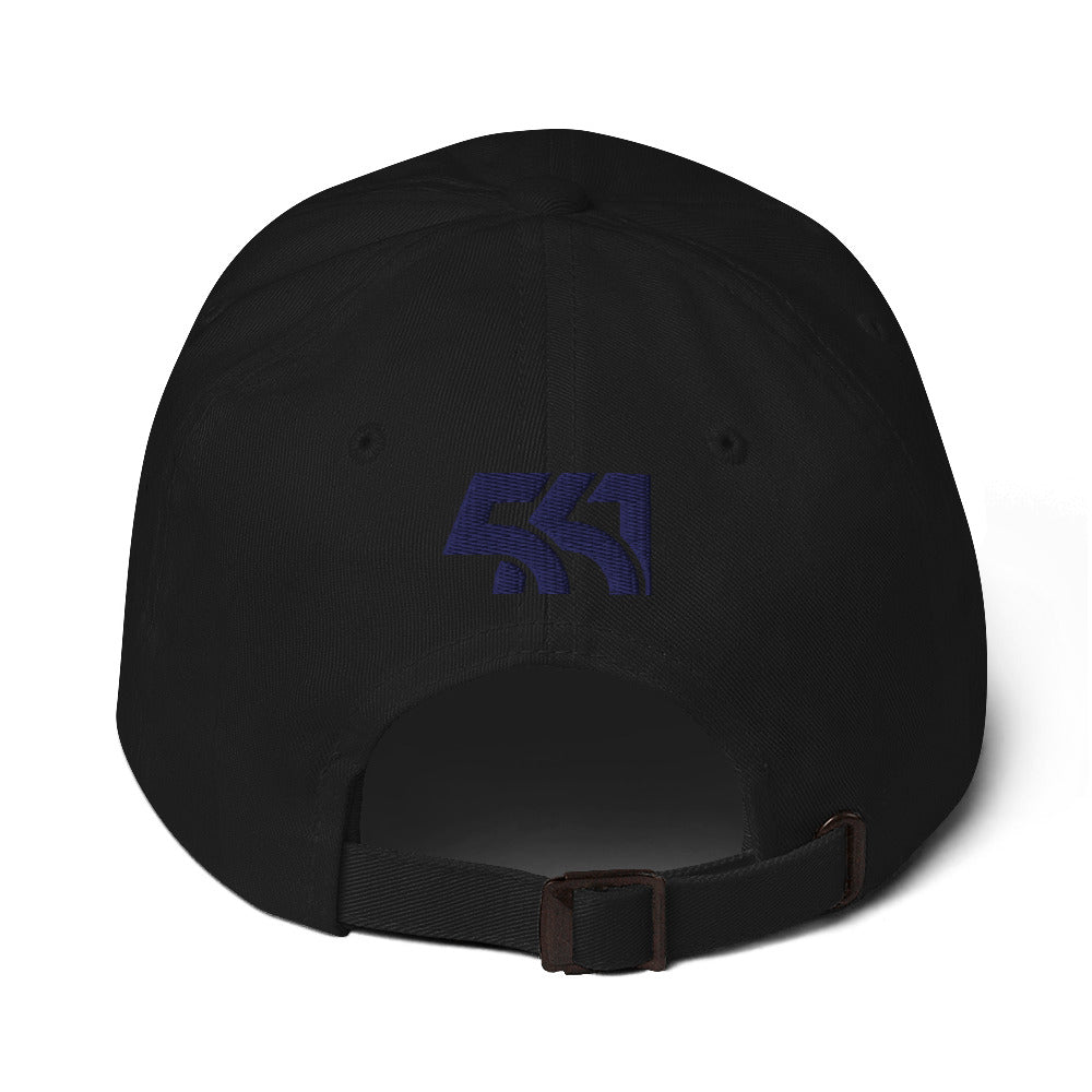 561 Area Code Dad Hat - Black and Blue