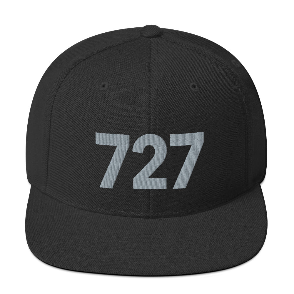 727 Area Code Snapback Hat - Gray Detail