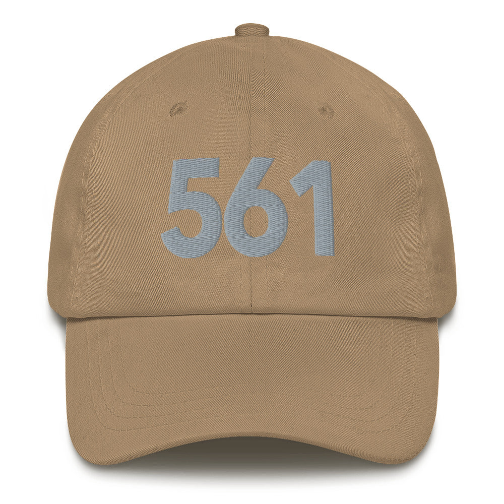 561 Area Code Dad Hat - Gray Detail