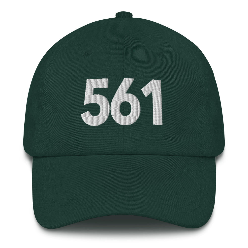 561 Area Code Dad Hat - White Detail