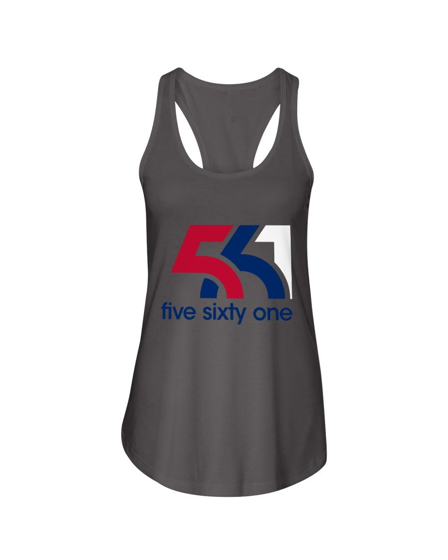 Five Sixty One Red, White & Blue Next Level Ladies Racerback Tank