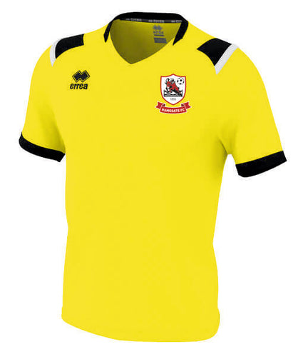Yellow Ramsgate Football Club 1st Team Shirt Adult.