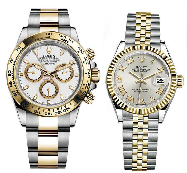 ROLEX DAYTONA GOLD SILVER Couple