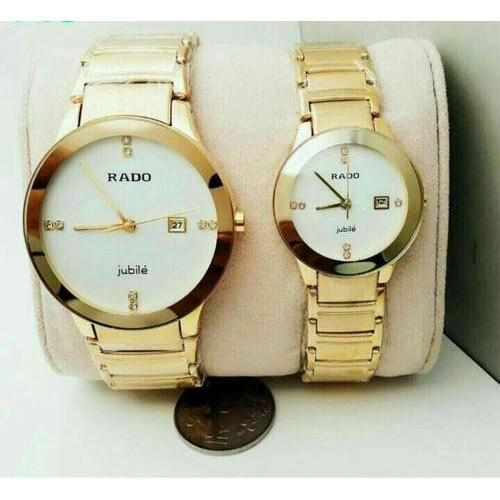 RADO CENTRIX GOLD White Dial Couple