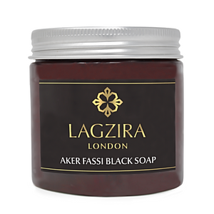 Organic Moroccan Beldi Black Soap With Aker Fassi 200g - Lagzira London