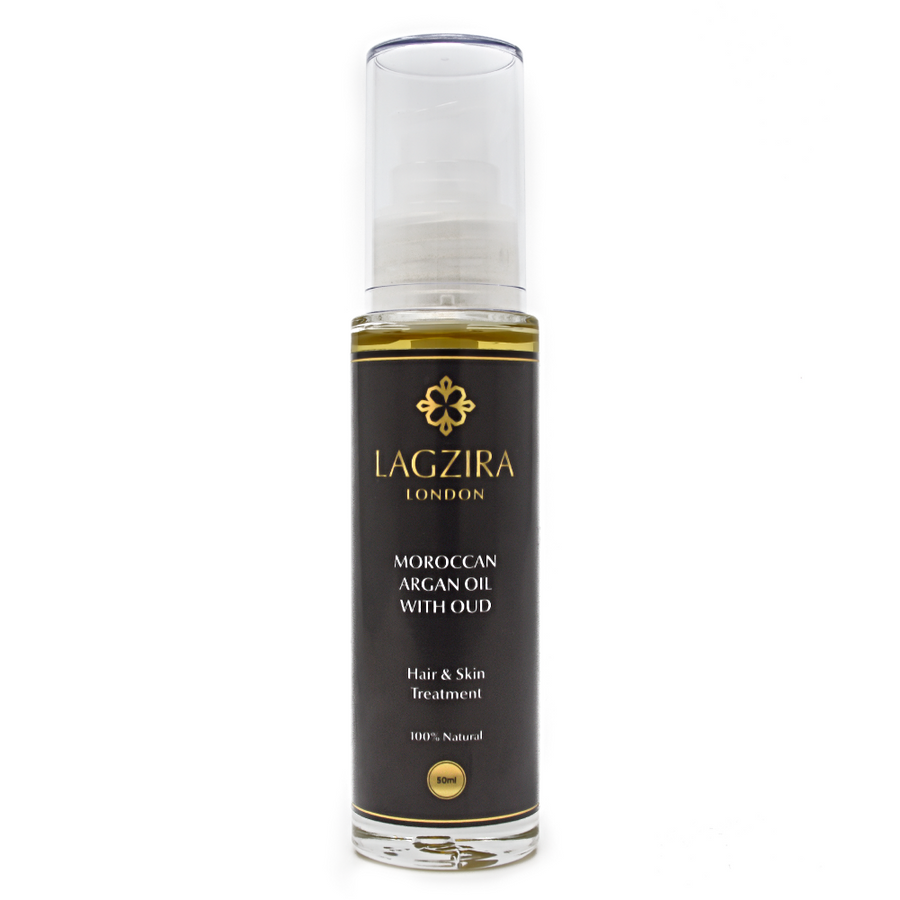 Pure Liquid Gold Organic Moroccan Argan Oil With Oud 50ml - Lagzira London