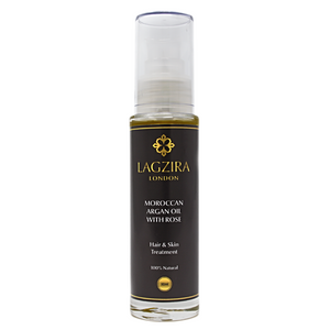 Pure Liquid Gold Organic Moroccan Argan Oil With Rose 50ml - Lagzira London