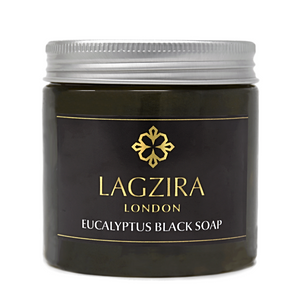 Organic Moroccan Beldi Black Soap With Eucalyptus 200g - Lagzira London
