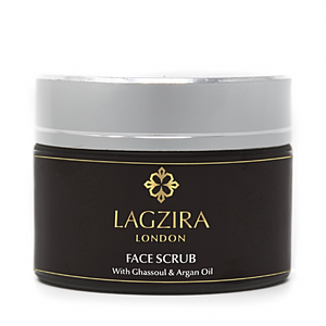 Organic Face Scrub With Ghassoul & Argan Oil 50ml - Lagzira London