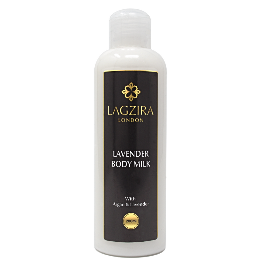 Organic Body Milk With Argan Oil And Lavender 200ml - Lagzira London