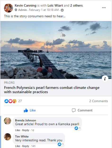 The World of Pearls Facebook Group: Post of the Week