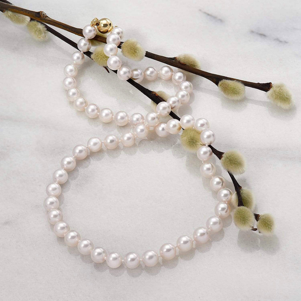 Featured Pearls of Joy Product Spotlight: Akoya Pearl Necklace, 7.0-7.5mm