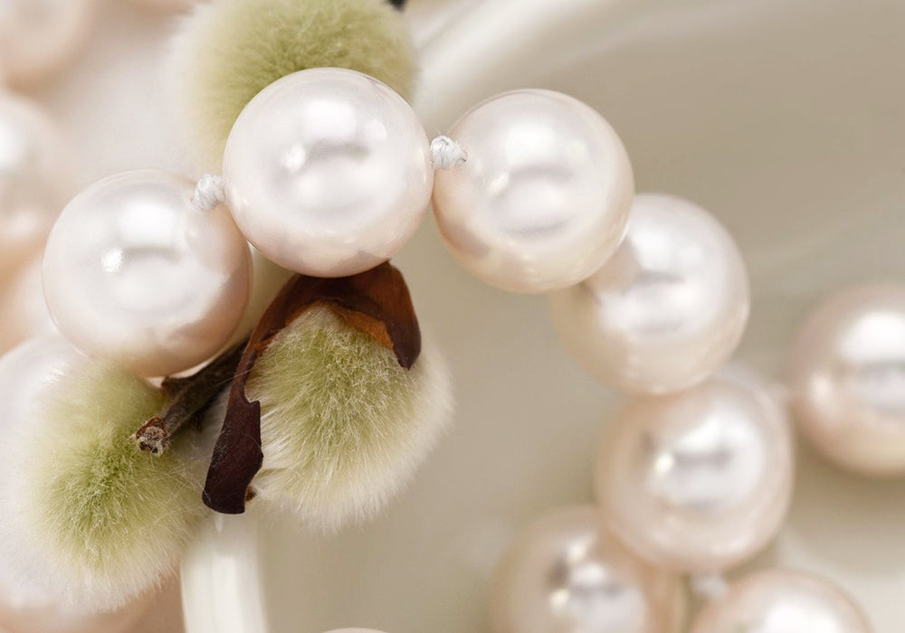 Featured Pearls of Joy Product Spotlight: White Akoya Pearl Necklace, 7.0-7.5mm