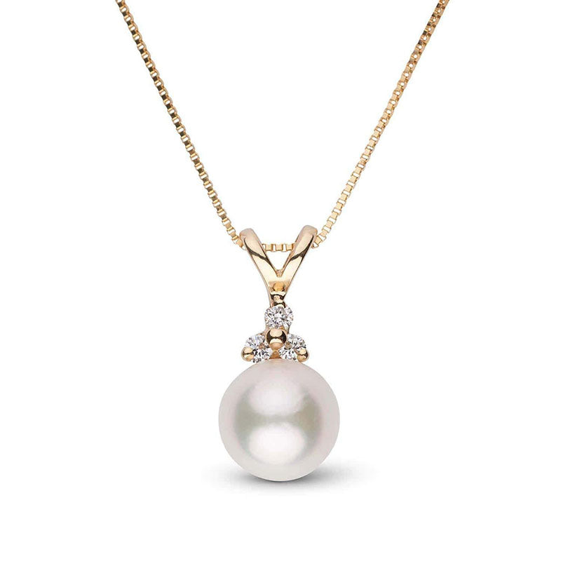 "Featured Pearls of Joy Product Spotlight: ""Blessed"" Diamond Akoya Pearl Pendant"