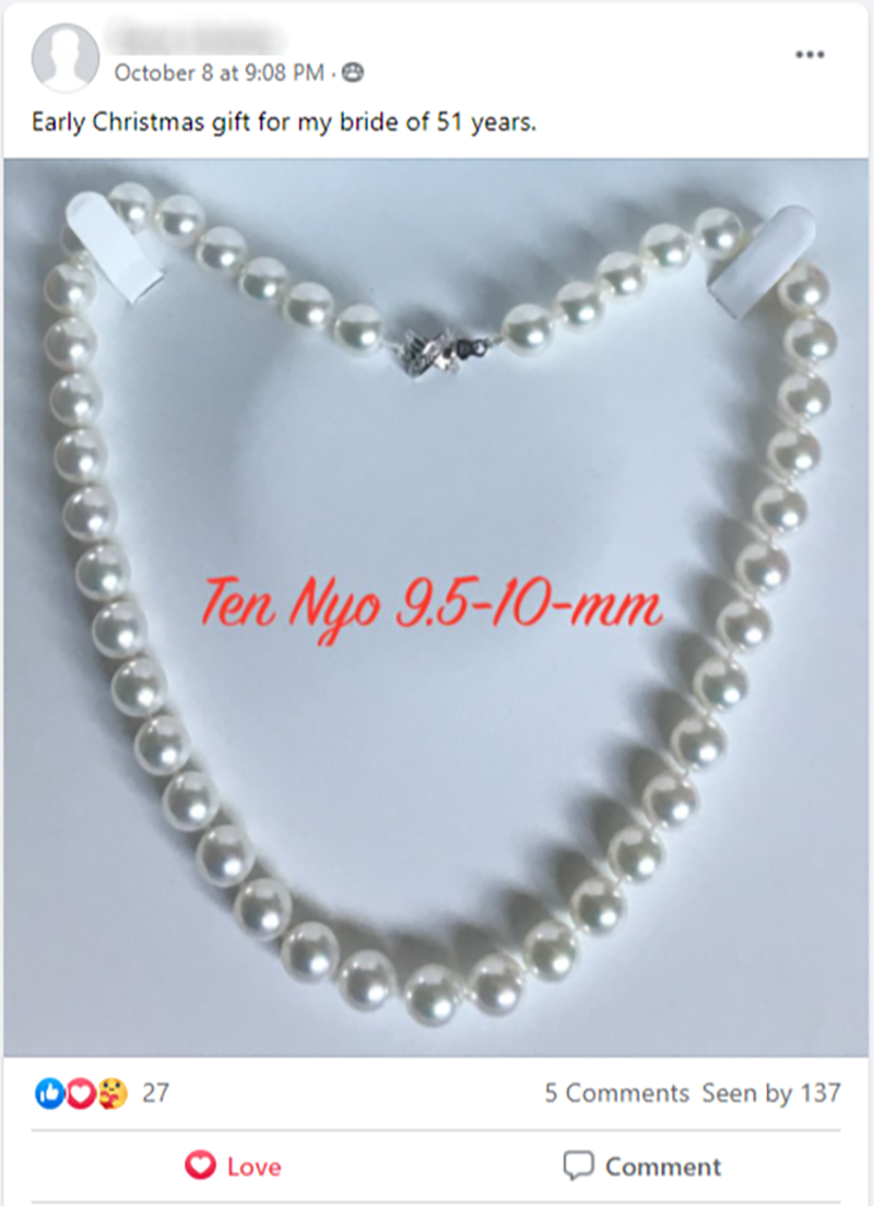 Wide World of Pearls Facebook Group: Post of the Week