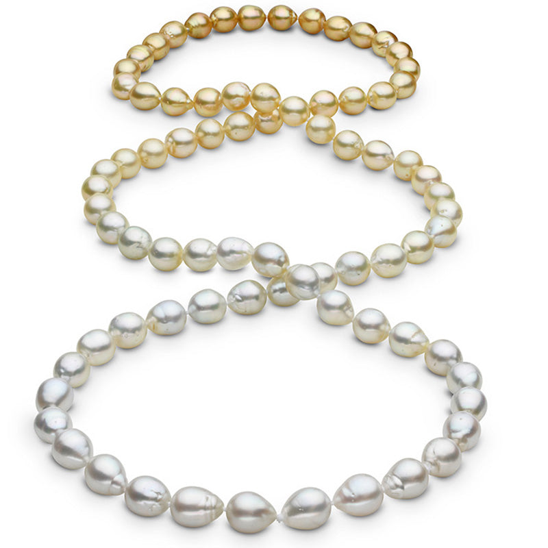 """Featured Pearls of Joy Product Spotlight: 36"""" Baroque Ombré South Sea Pearl Necklace: 9.2-10.0mm AA+/AAA"""