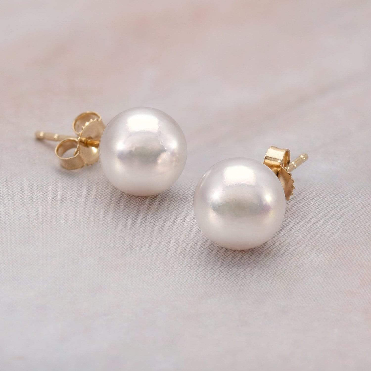 Featured Pearls of Joy Product Spotlight: Hanadama Akoya Pearl Stud Earrings 8.5mm