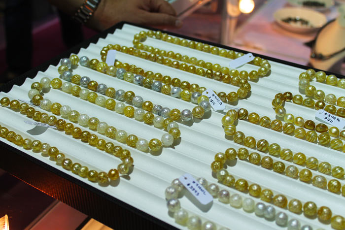 white and gold Galatea pearls