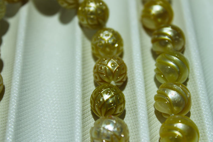 golden Galatea pearls by Chi