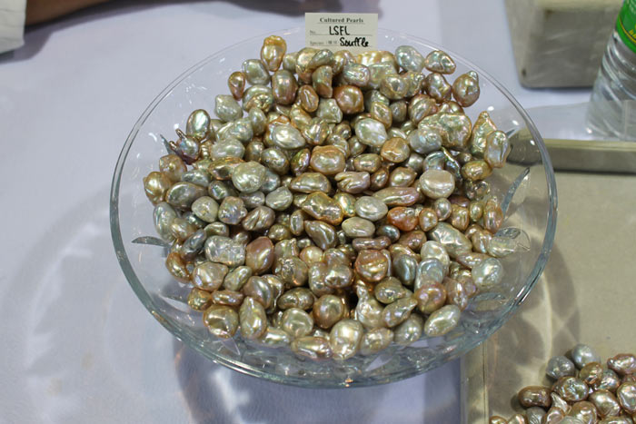 a pile of multicolored Souffle pearls