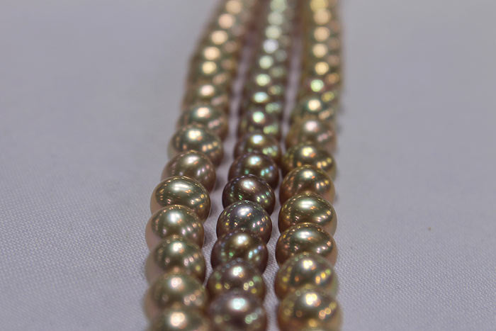 pearls with beautiful metallic luster