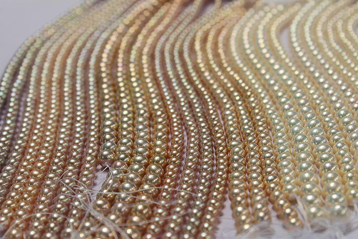 a wonderful batch of metallic pearls