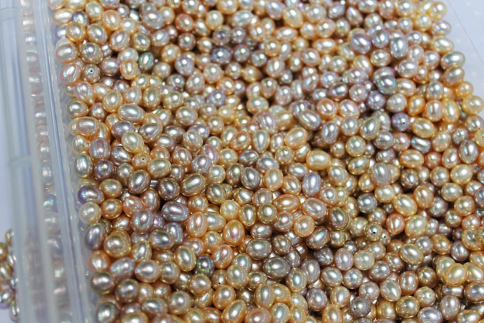 multicolored drop pearls