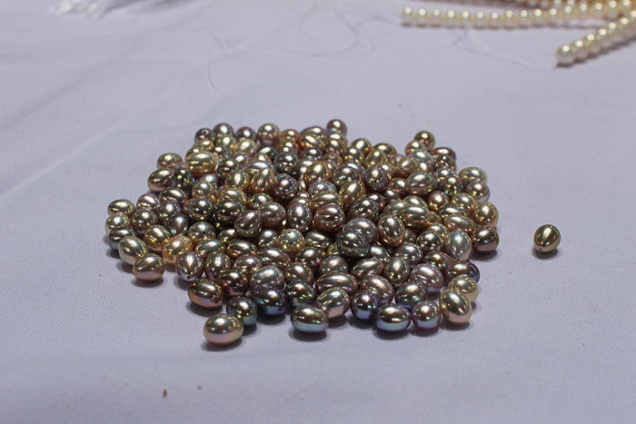 a pile of handpicked pearls