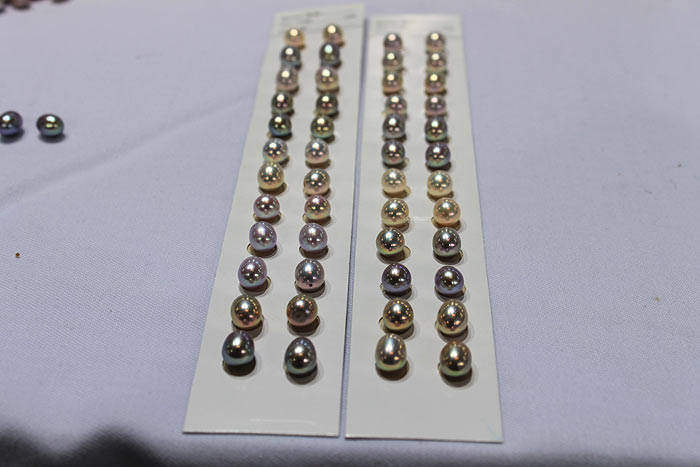 pairs of matched drop pearls