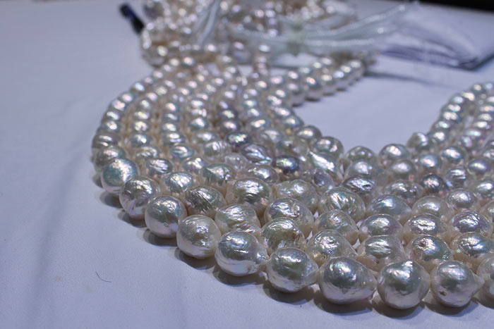 strands of big, white pearls from Grace Pearl