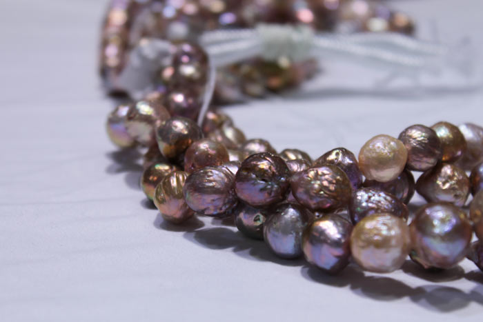 dark colored pearls in different hues