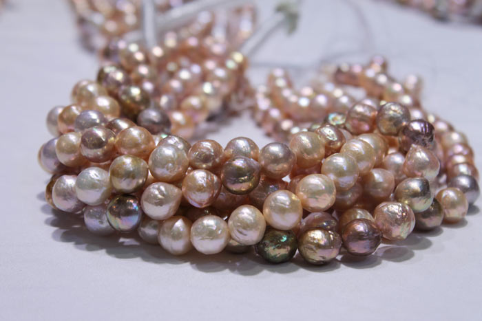 closer view of the pearls
