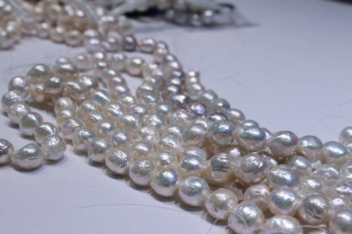 rows of beautiful white pearls