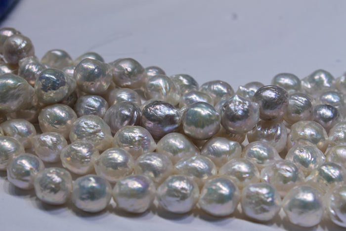 magnified view of the pearls