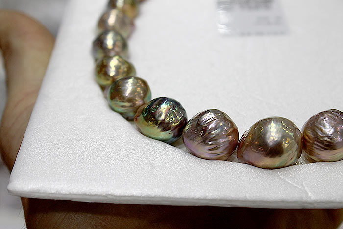 stunning freshwater ripple pearls without treatment