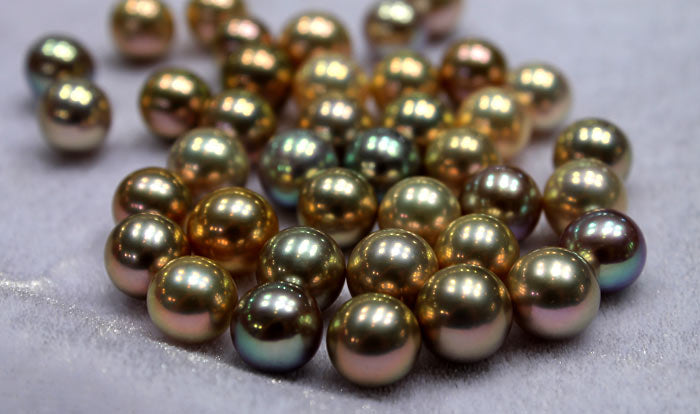metallic pearls in rare colors