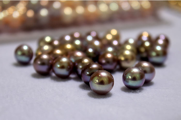 dark purple metallic freshwater pearls